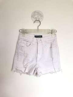 Ziggy Denim Distressed White Shorts