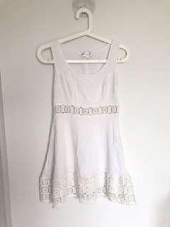 Lily Whyt White crotchet Dress