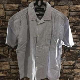 Kemeja parisien bowling shirt tenue de attire sz l