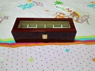 6 Slot Wooden Watch Storage Box