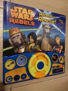 New Disney XD Star Wars Rebels Play-a-Sound Board Book Steering wheel #SBUX50 #SINGLES1111