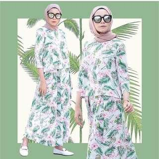 Areca Crop Top & Pleated Skirt by Anasri