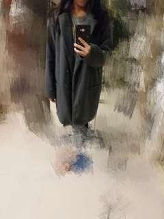 灰色 大衣 grey coat jacket