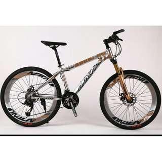"Chrome Gold Aluminium 26"" All Terrain Bike ☆ Corrosion Resistance! ☆ Microshift 27 Speeds ☆ Sports Rims ☆ Brand New Bicycle"