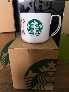 Starbucks Stainless Steel Handle Mug- White Christmas