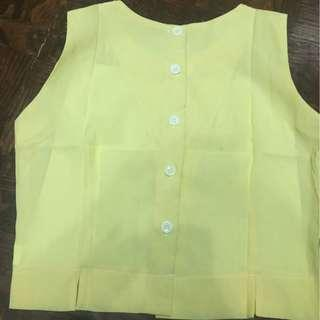 Hk Bought Button Down Back Top