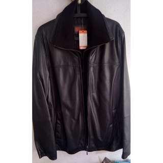<< Size M >> BRAND NEW Genuine Leather jacket - (BLACK)
