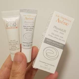 Avene SUR PUR eye cream sample 眼霜