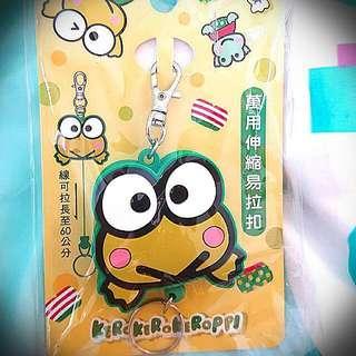 全新 台灣版 keroppi kerokerokeroppi sanrio 青蛙 伸縮易拉扣
