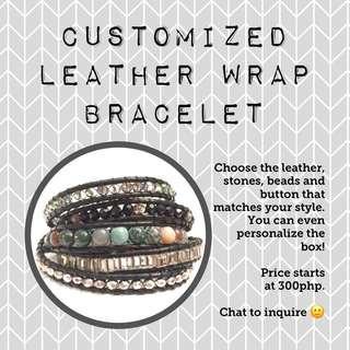 customized leather wrap bracelet