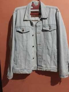 Jacket jeans bio pudar, unisex