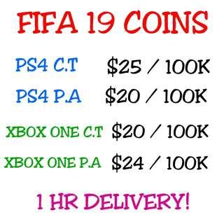 FIFA 19 COINS [ XBOX ONE & PS4 ]