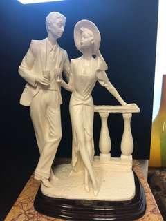Large Santini couple statue