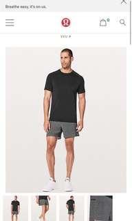 "Brand New Lululemon Surge Shorts 5"" with liner for men"