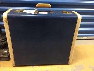 Vintage blue luggage
