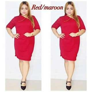 🎀 Plus Size Dress  💞 Price: 420  💞 Special Fabric  💞 Freesize/Onesize Only  💞 Fit XL to 2XL