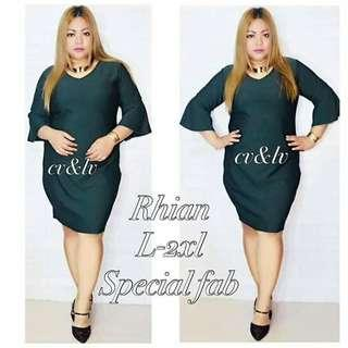 🎀 Plus Size Rhian Dress  💞 Price: 399  💞 Special Fabric  💞 Freesize/Onesize Only  💞 Fit Large to 2XL