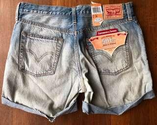 [WITH SHIPPING/CLEARANCE] Levis 501ct Tapered Leg Denim Shorts
