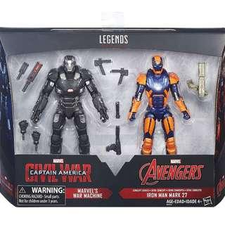 Captain America Civil War 2-Pack: Marvel's War Machine and Iron Man Mark 27 MISB (Last Set)