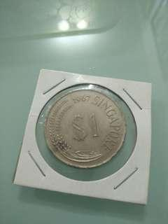 Willie: Singapore 1 Dollar Year 1967