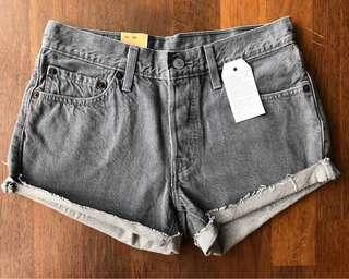 [WITH SHIPPING/CLEARANCE] Levis 501 Grey Denim Shorts