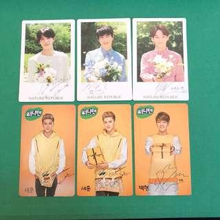 EXO Nature Republic & Sunny10 official photocards