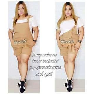 🎀 Plus Size Jumper w/ Inner  💞 Price: 450 JumperShorts                     34 to 43 waistline (freesize)                    470 RS/WS JumperTokong                    34 to 38 waistline (freesize)  💞 Spanrib Fabric  💞 Freesize/Onesize Only