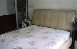 Queen sized Bed Frame And Mattress