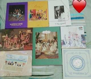 KPOP ALBUMS WTS CLEARANCE (NCT Dream, Taeyeon, Wanna One, WJSN, Uni.T, Lovelyz
