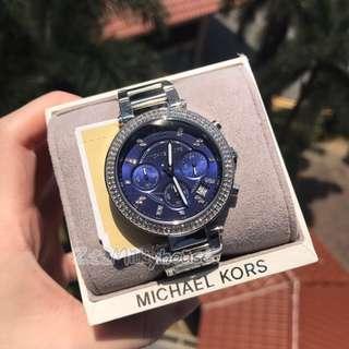 🚚 Michael Kors blue dial ladies Watch