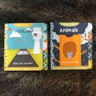 Buku Slide n See Animals Vehicles (Bundle)