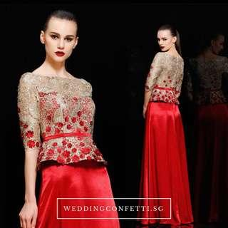 Evening Gown With Embriodery