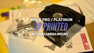 3D Printed Action Camera Mount for DJI Mavic Pro Platinum GoPro Supremo