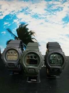 "DW-6900LU-1, DW-6900LU-3, DW-6900LU-8卡西歐品牌手錶""Casio""""G-Shock""日本機芯一年保養"