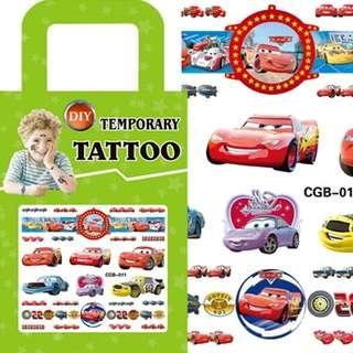 Disney Cars party supplies - cars tattoos / party gifts / goodie bag gifts