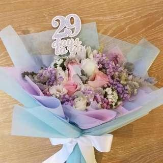 Fresh Flower Bouquet in Pink Rose / Hens Party / Birthday bouquet / Anniversary Flowers