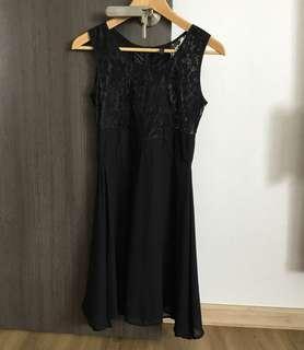 🚚 Black Sexy Flowy Formal Office Lace Dress