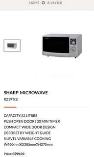 Sharp 22L compact microwave oven