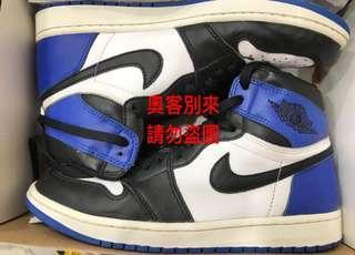 二手 極品 Nike x fragment Jordan 1 藤原浩 9.5 超帥 max yeezy supreme off white