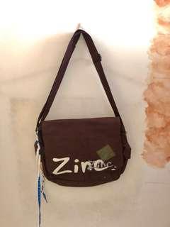 Brown Zinc Sling Bag