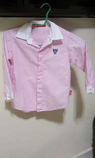 Smart pink striped shirt for boys