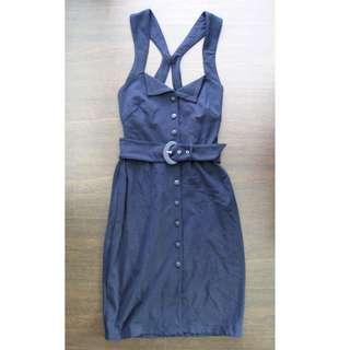 Mango Navy Blue Dress