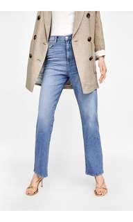 BNWT Zara High-Waist Straight Leg Jeans