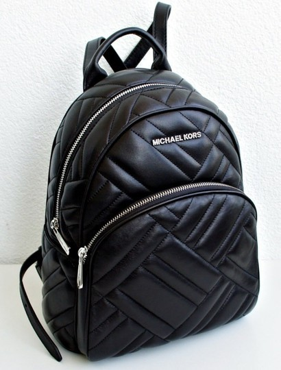 cc6cb384b4ab Michael Kors Abbey Quilted Black Leather Backpack