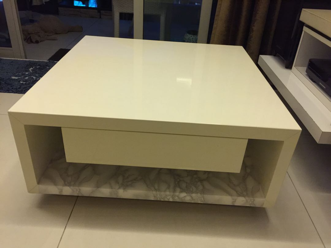 Acrylic wood coffee table furniture tables chairs on carousell