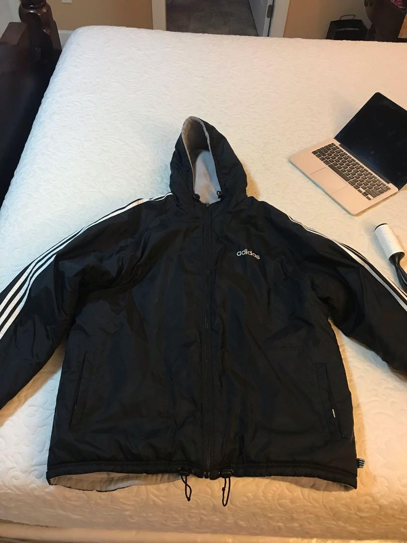 Adidas classic Three strip Reversible jacket Size L
