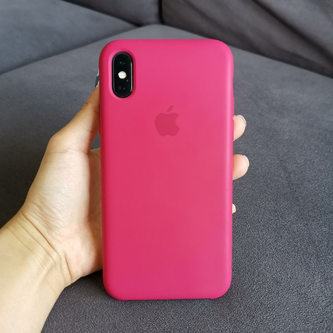 best service 04af7 15487 Apple iPhone X Silicon Case (Rose Red)