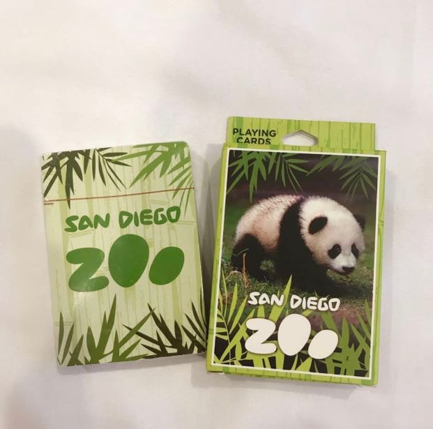 🌟#blessing FOC BNIP San Diego Zoo Poker Cards, Toys & Games
