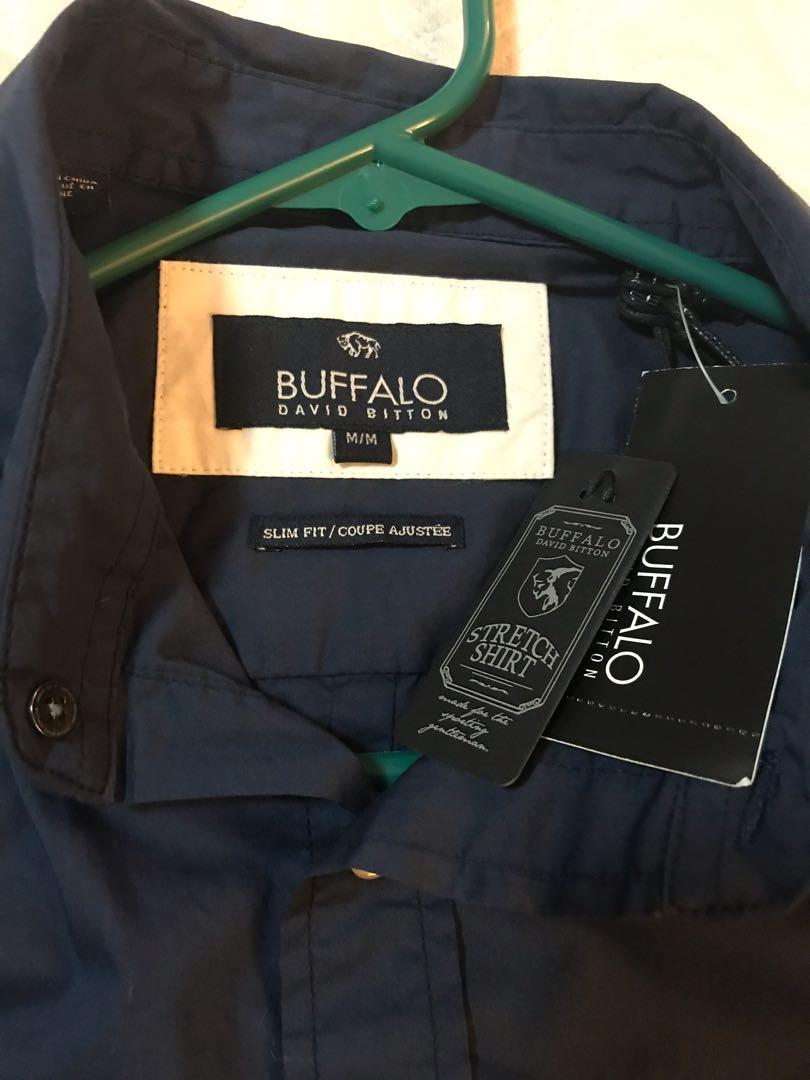 Buffalo Navy Button up. Brand new with tags size M slim fit