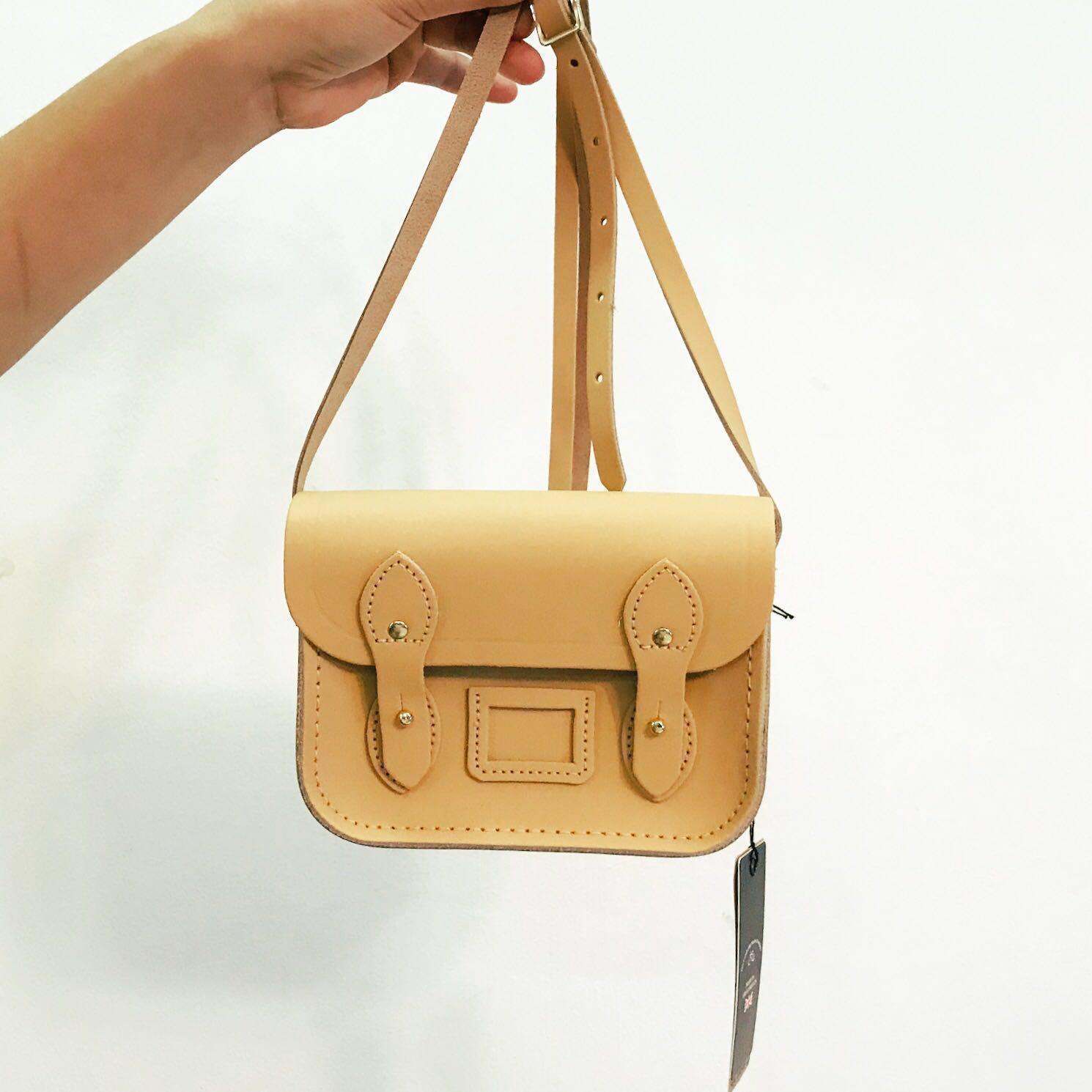 Cambridge Satchel Leather Tiny Satchel in Safari Sand - Brand New ... e266a3ec6155c